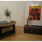Abstract Painted Coffee Table
