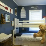 Agreeable Nautical Blue Color Scheme For Bedroom Bunk Bed