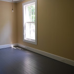 All The Hardwood Floors Our House Were Painted Think