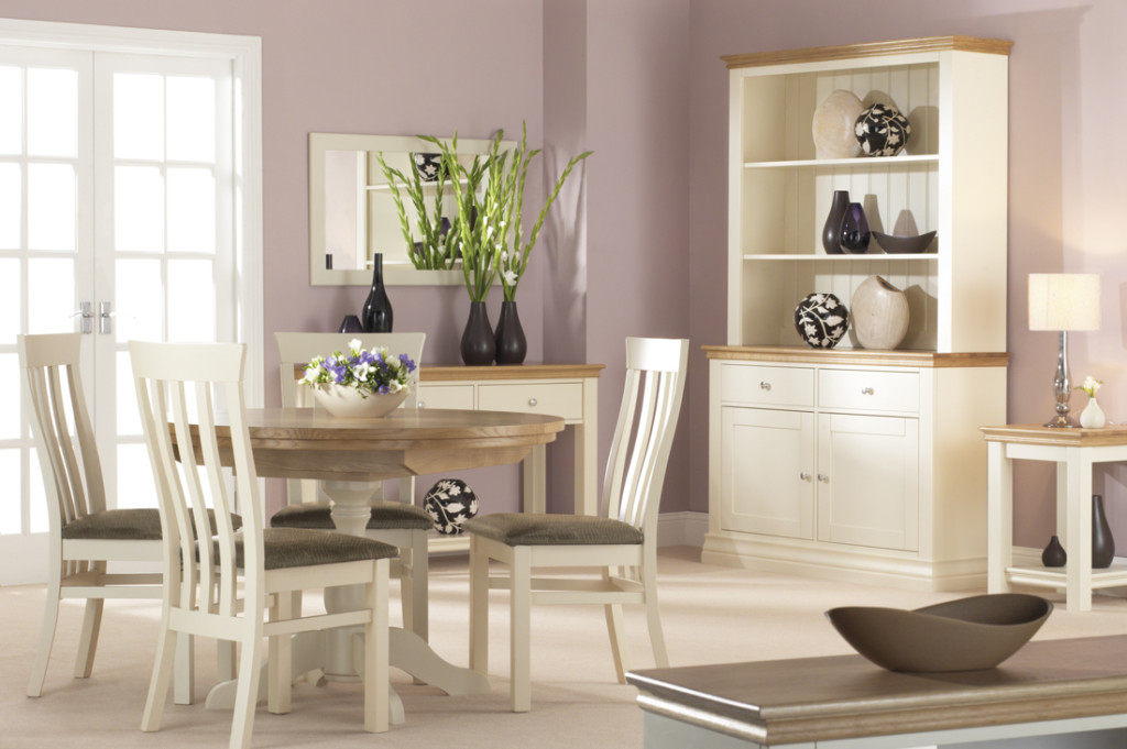 Annecy White Painted Dining Room Furniture Buttermilk Finish
