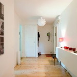 Apartment Light Wood Floors Painted White Walls Painting
