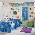Aquatic Cool Bedroom Painting Ideas
