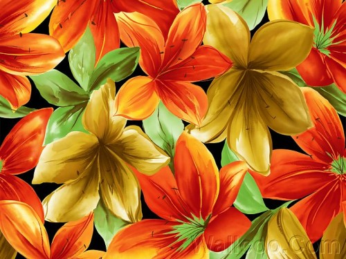 Art Flower Paintings Design