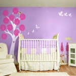 Baby Room Painting Ideas Purple Colorful