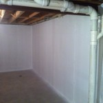 Basement After Applying Waterproofing Paint