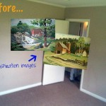 Before After Paint Number Wall Mural