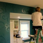 Before And After Kitchen Makeover Patterned Walls