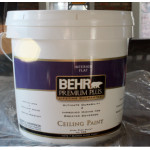 Behr Premium Plus Ultra Pure White Ceiling Paint For Two Gallon