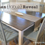 Blue And White Kitchen Table Reveal