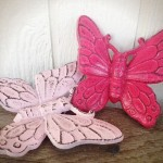 Bold Powder Hot Pink Shabby Chic Butterfly Wall Art Boldhouse