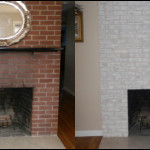Brick Painted Fireplace Must See