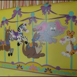 Carousel Critters Paint Number Wall Mural