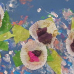 Cases Glitter Tissue Paper And Finger Painting Water