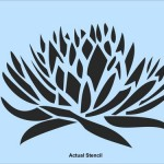 Century Plant Natural Wall Stencil Painting Raised