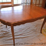 Chalk Paint Dining Room Table Upcycle Adventure