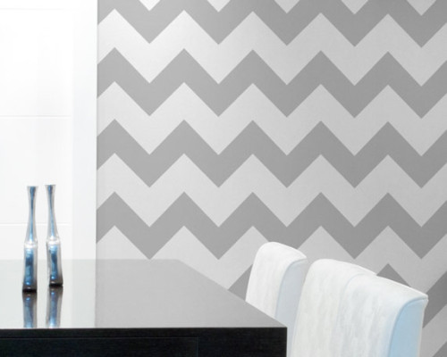 Chevron Wall Stencil Large Paint Stripes For