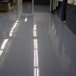 Commercial Grey Color Coating Concrete Painting Basement Floor Design