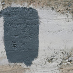 Concrete Wall Gray And White Paint