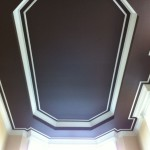 Dark Paint Color High Tray Ceiling