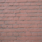 Description Painted Red Brick Wall Moscow