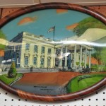 Details About White House Washington Reverse Painting Glass Chicago