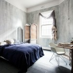 Distressed Blue Gray Wall