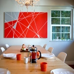 Diy Geometric Painting The Dining Room