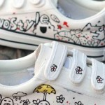 Diy Shoes Ideas Hand Painted Sneakers Black Kitten Silhouettes