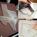Diy String Map Wall Art