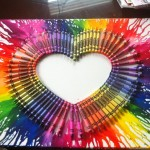 Diy Wall Art Melted Crayon Canvases