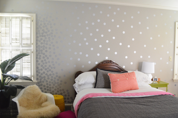 Dotted Wall Stamped Silver Paint Shoe Polish Brush