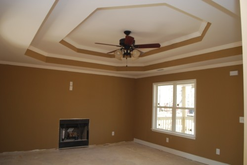 Double Step Tray Ceiling Paint Idea