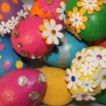 Easter Egg Decorating Idea Painted Bling Eggs