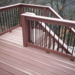 Elevated Deck Plans Stair Railing Idea