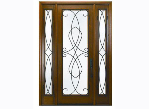 Environment Protect Painting Exterior Timber Doors For Houses Supplier