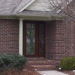 Exterior Brick Home Before Paint Project Front Entrance