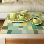 Faux Mosaic Tile Table Top Created Paint Chips From Readymade