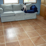 Faux Tiles Flooring Painted Dricore Plywood Floor