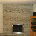 Fireplace Brick Painting Alternative