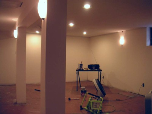 Floor And Its Steps Fabulous Painting Basement Diy Brown Color