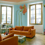 Flower Cool Painting Living Room Ideas