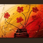 Flowers Painting Dripping Abstract Art Paintings Carmen
