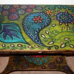 Funky Home Decor Hand Painted Coffee Tables Nightstands All One