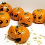 Funny Faced Halloween Pumpkin Drawings And Painting Ideas