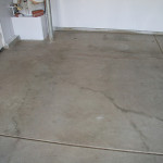 Garage Floor Degreasing After Rear Left