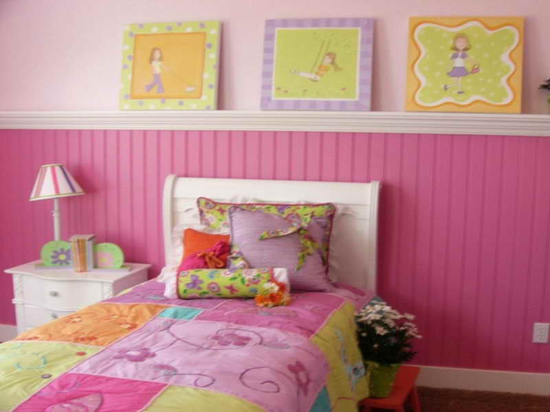 Girl Toddler Room Decorating Ideas Pink Paint