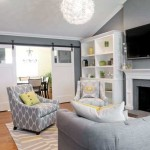 Gray Color And Soft Green Shades Combined Off White Paint