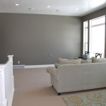 Gray Paint Color For Spacious Interior Room