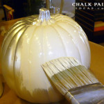 Great Painting Idea For Fall Chalk Painted Pumpkins Done Any