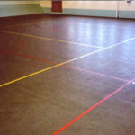 Ground Old Painted Concrete Floor Lines Marking Topcolor